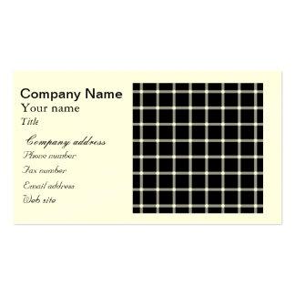 Centelleo de la ilusión óptica de la rejilla negra tarjetas de visita