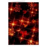 Centelleo de las luces del árbol del día de fiesta tarjeta de felicitación