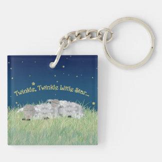 Centelleo del centelleo pocas ovejas el dormir de llavero