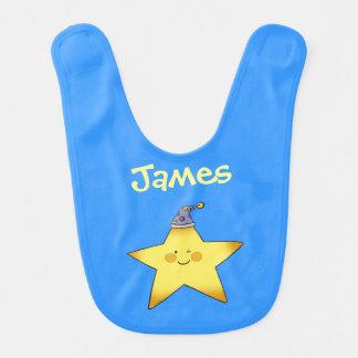 centelleo poca estrella - apenas añada el nombre babero para bebé
