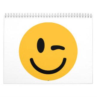 Centelleo sonriente de la cara calendarios