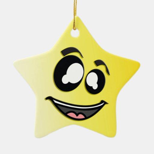Centelleo y ornamento de la estrella del bígaro adorno de cerámica en forma de estrella