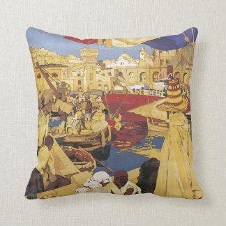 Centenaire de L'Algerie Vintage Travel Poster Throw Pillow