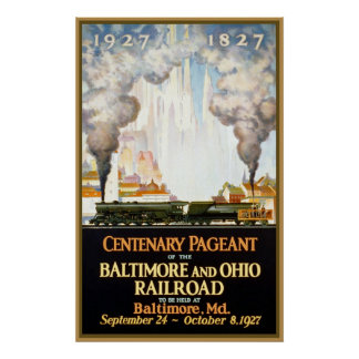Centenary Pageant Baltimore and Ohio Railroad Poster