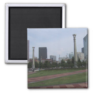 Centenial Olympic Park At Downtown Atlanta, Ga, 2 Inch Square Magnet