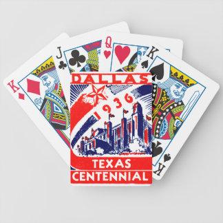 Centennial 1936 de Dallas Tejas Baraja De Cartas