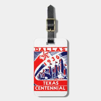 Centennial 1936 de Dallas Tejas Etiqueta De Maleta