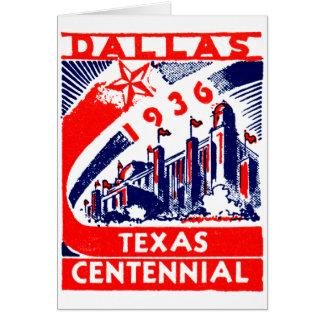 Centennial 1936 de Dallas Tejas Felicitaciones