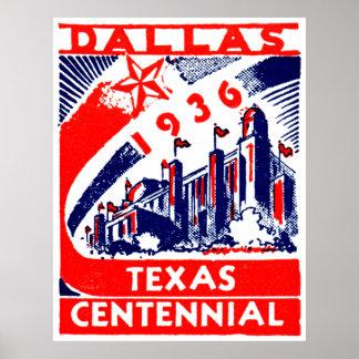 Centennial 1936 de Dallas Tejas Impresiones