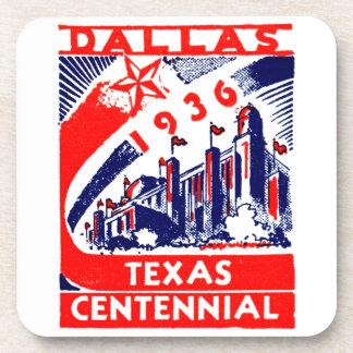 Centennial 1936 de Dallas Tejas Posavasos De Bebidas