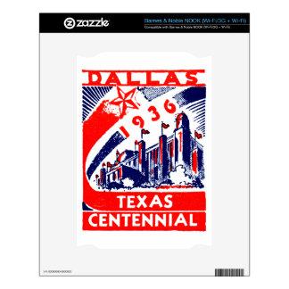 Centennial 1936 de Dallas Tejas Calcomanía Para El NOOK
