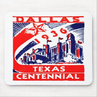 Centennial 1936 de Dallas Tejas Tapete De Raton