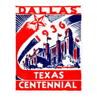 Centennial 1936 de Dallas Tejas Tarjeta Postal