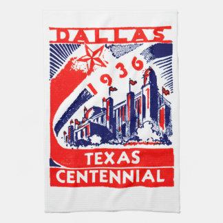 Centennial 1936 de Dallas Tejas Toalla De Cocina