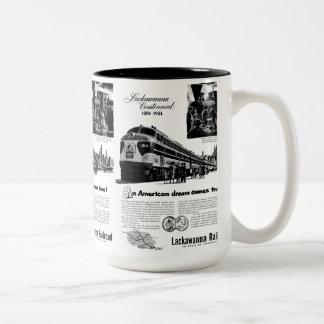 Centennial 1951 del ferrocarril de Lackawanna Taza De Dos Tonos