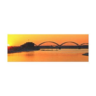 Centennial Bridge Canvas Print