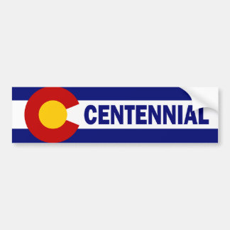 Centennial, Colorado Etiqueta De Parachoque