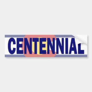 Centennial, Colorado Pegatina De Parachoque
