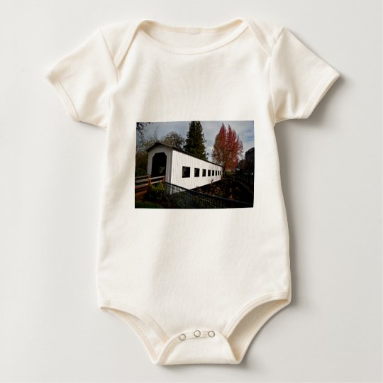Centennial Covered Bridge, Cottage Grove, Oregon Baby Bodysuit