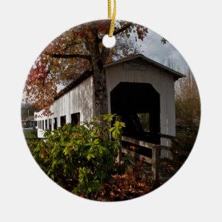 Centennial Covered Bridge, Cottage Grove, Oregon Christmas Ornament