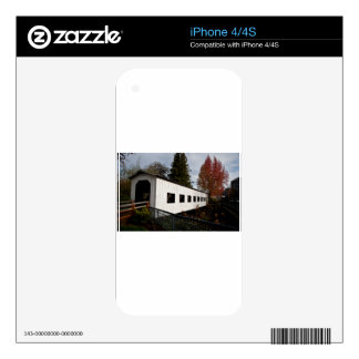 Centennial Covered Bridge, Cottage Grove, Oregon Decal For iPhone 4