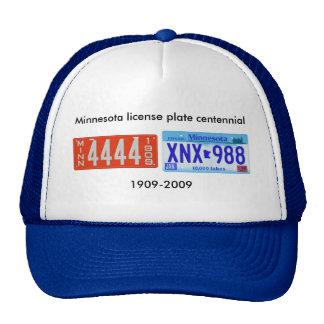 Centennial de la placa de Minnesota Gorro De Camionero