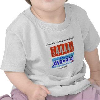 Centennial de la placa de Minnesota Camisetas
