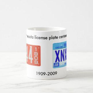Centennial de la placa de Minnesota Taza De Café