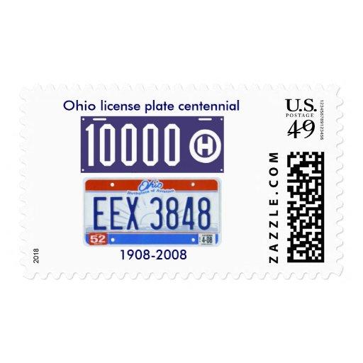 Centennial de la placa de Ohio Sello Postal