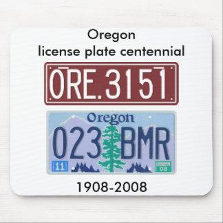Centennial de la placa de Oregon Alfombrillas De Ratones