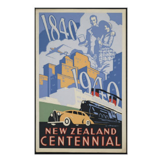 Centennial de Nueva Zelanda Póster