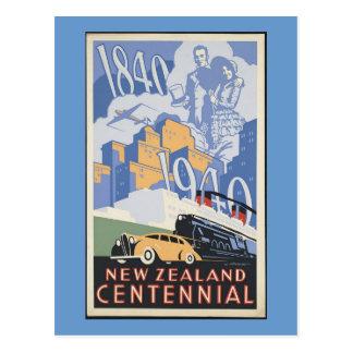 Centennial de Nueva Zelanda Tarjeta Postal