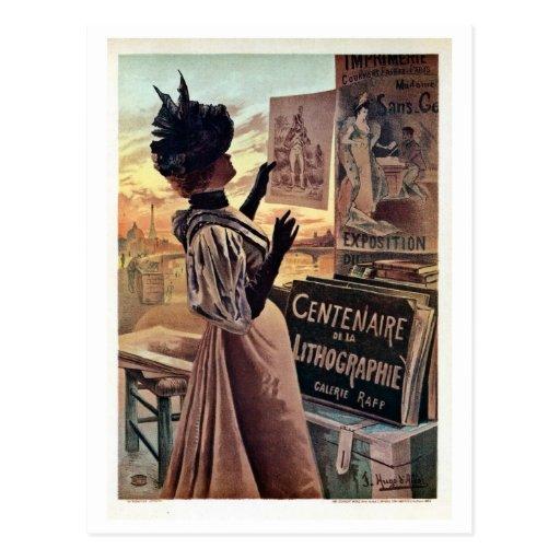 centennial del époque de la belleza del vintage de postales