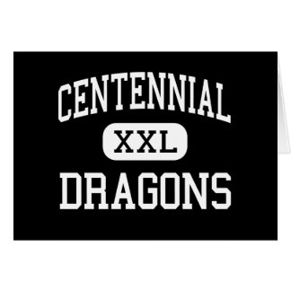 Centennial - Dragons - Alternative - Fort Collins Greeting Card