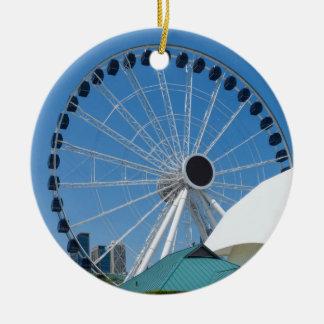Centennial Ferris Wheel Ceramic Ornament