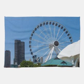 Centennial Ferris Wheel Hand Towel