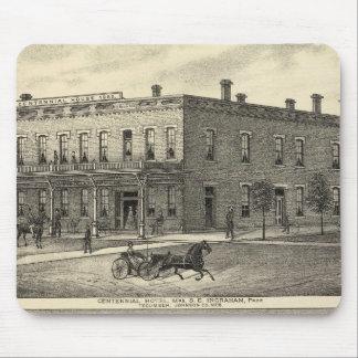 Centennial Hotel, Tecumseh, and Neb, Nebraska Mouse Pad