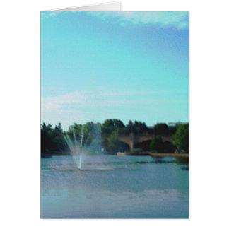 """Centennial Lakes Park """"Fountain"""" Edina, MN Card"""