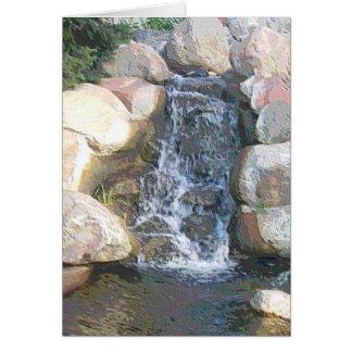 "Centennial Lakes Park ""Rock Waterfalls"" Edina, MN Card"