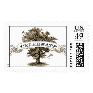 Centennial Oak Celebrate Stamp by Loralee Lewis
