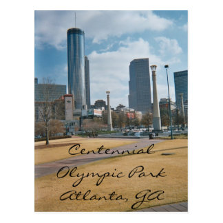 Centennial Park and Downtown Atlanta Postcard