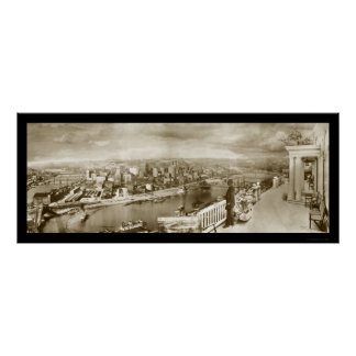 Centennial Pittsburgh Photo 1909 Poster