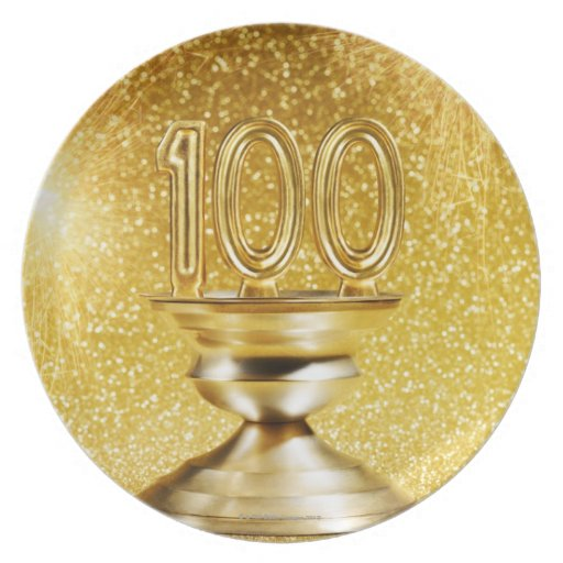 Centennial Trophy with Fireworks Melamine Plate