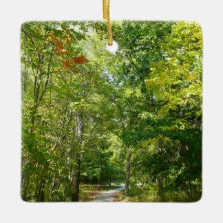 Centennial Wooded Path I Ellicott City Nature Ceramic Ornament