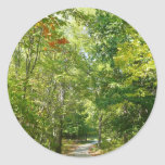Centennial Wooded Path I Ellicott City Nature Classic Round Sticker
