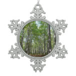Centennial Wooded Path II Ellicott City Maryland Snowflake Pewter Christmas Ornament