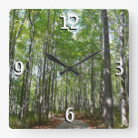 Centennial Wooded Path II Ellicott City Maryland Square Wall Clock