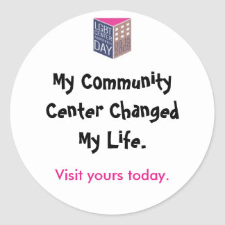 Center Awareness Day '09 Visit Your Center Classic Round Sticker