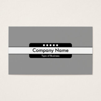 Center Band 5 Spots - Mid Gray Business Card
