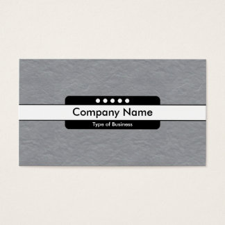 Center Band 5 Spots - Mid-Gray Paper Texture Business Card